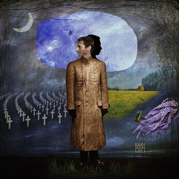 """""""Le peuple au bois dormant"""" Série Daydream, 2011, assemblage d'images, format 60x60 cm"""