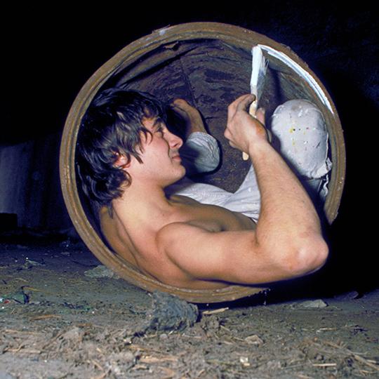 Jérome Mesnager - Photographié par Laudator dans les carrières souterraines de Paris
