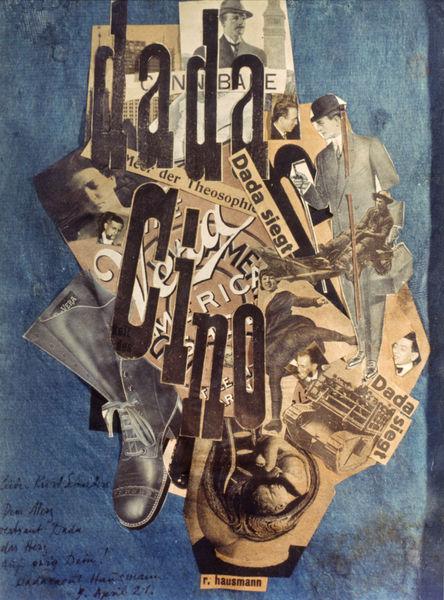 Raoul HAUSMANN, DADA Cino, 1920 Collage et photomontage sur papier, 31.7 x 22.5, collection particulière