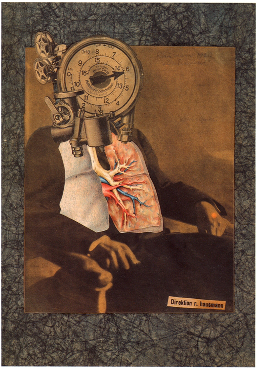 Raoul HAUSMANN - Autoportrait du Dadasophe), 1920, Photomontage et collage sur papier Japon, 36.2 x 28, collection particulière