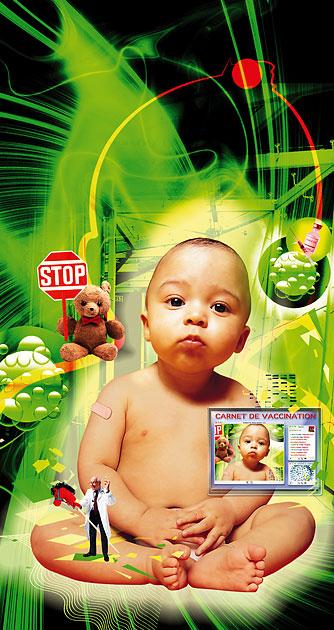 """Illustration """"Vaccinations, quels risques pour les bébés?"""""""